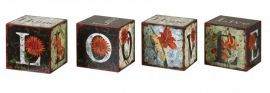 19540 Love Letters Decorative Boxes, Set/4