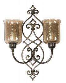 19564 Sorel Metal Double Wall Sconce