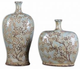 19658 Citrita Decorative Ceramic Vases Set/2