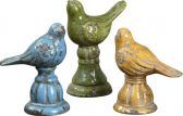19705 Bird Trio Ceramic Figurines, Set/3