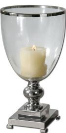 19718 Lino Clear Glass Candleholder