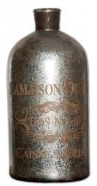 19752 Lamaison Mercury Glass Bottle Large