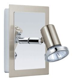 200092A 1-Light Wall Light, Matte Nickel/ Chrome