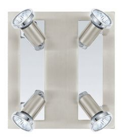 200093A 4-Light Track Light, Matte Nickel/ Chrome