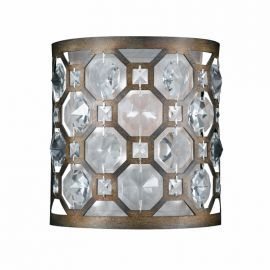 Series 2002 1 Light Wall Sconce In A Hand Painted Burnished Bronze Finish And Crystal Accents