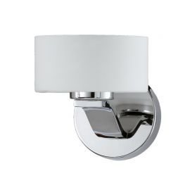 Series 2004 1 Light Sconce In A Chrome Finish And Opal Glass
