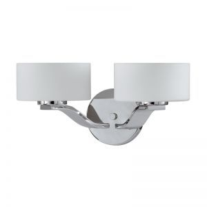 Series 2004 2 Light Sconce In A Chrome Finish And Opal Glass