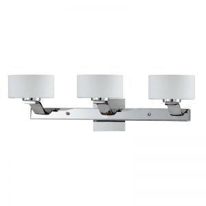 Series 2004 3 Light Bath Vanity Light In A Chrome Finish And Opal Glass