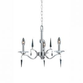 Series 2005 3 Light Mini Chandelier With Crystal Accents