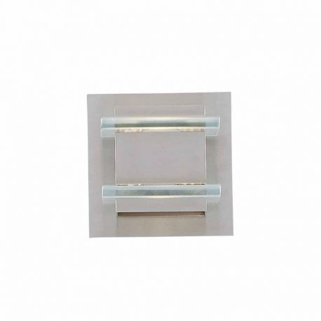 Series 2006 1 Halogen Bath Light In A Brushed Steel Finish With Clear Accent Glass