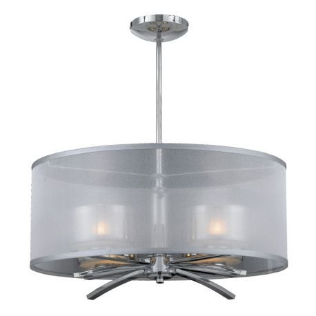 Series 2008 4 Light Xenon Pendant In A Chrome Finish With Chrome Plated Glass Shades