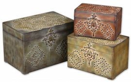 20394 Hobnail Weathered Boxes, Set/3