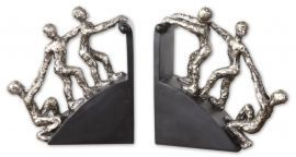 20494 Helping Hand Nickel Bookends, Set/2