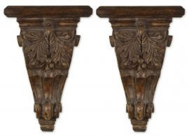 20613 Mora Distressed Chestnut Shelves, Set/2