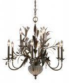 21094 Cristal De Lisbon 9+2 Light Chandelier