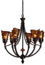 21227 Vitalia 6Lt Oil Rubbed Bronze Chandelier