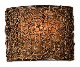 22466 Knotted Rattan 1 Light Wall Sconce