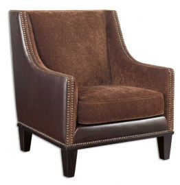 23004 Derek Plush Chestnut Armchair