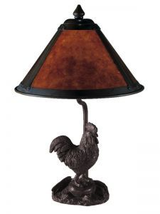 2307 Rooster Mica Table Lamp