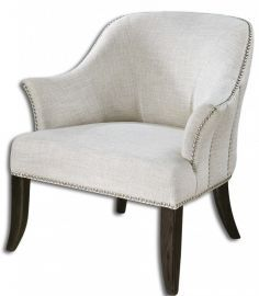 23114 Leisa White ArmChair