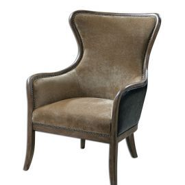 23158 Snowden Tan Wing Chair