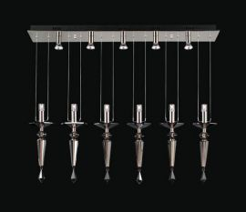 23664 PC Smoked Crsytal Lamore Mini Drop Pendant