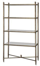 24277 Henzler Mirrored Glass Etagere