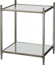 24282 Gannon Mirrored Glass End Table