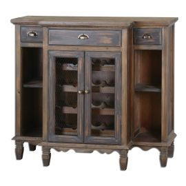 24371 Suzette Wood Wine Cabinet