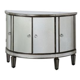 24376 Sainsbury Mirrored Console Cabinet