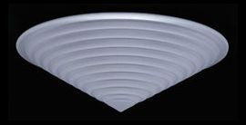2519 BK Stepped Frost Valencia Ceiling Fixture