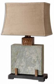 26321-1 Slate Square Table Lamp