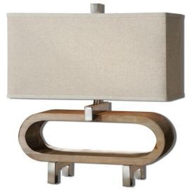26576-1 Medea Wood Accent Lamp