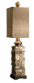 29093-1 Andean Layered Stone Buffet Lamp
