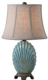29321 Seashell Blue Buffet Lamp
