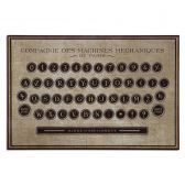 31600 Antique Keyboard Vintage Art