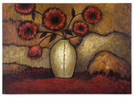 32076 Red Poppies Floral Art