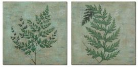 32232 Fronds Hand Painted Art Set/2
