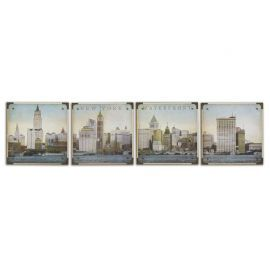32302 Waterfront New York Wall Art, S/4