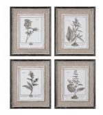 32510 Casual Grey Study Framed Art Set/4