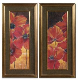 33557 Midnight Poppy Floral Art Set/2
