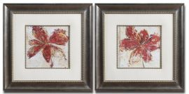 33569 Floral Gesture Framed Art Set/2