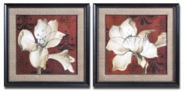 33575 Amaryllis On Red Floral Art Set/2