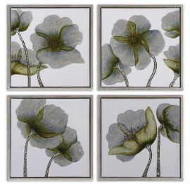 34216 Mini Floral Glow Wall Art Set/4