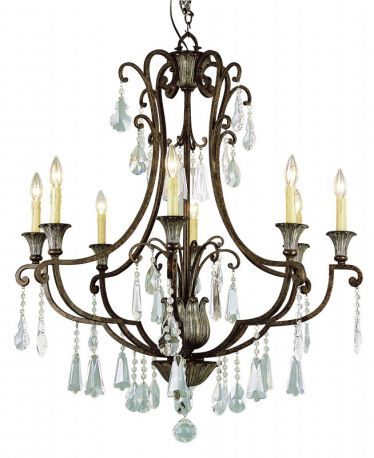 Antique Bronze 8 Light Candelabra