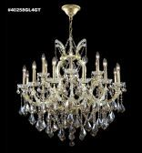 40258GL4GT REGAL Handcut/Polished Crystal Golden Teak Chandelier