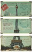 40917 Eiffel Tower Carte Postale Art Set/3