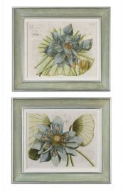 41325 Blue Lotus Flower Art Set/2