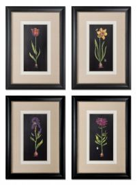 41396 Springtime Flowers Wall Art, S/4