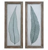 41514 Tall Leaves Framed Art Set/2